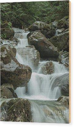 Falls Wood Print by Rod Wiens