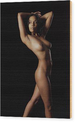 Fine Art Nude Figure Study Wood Print by James Hammond