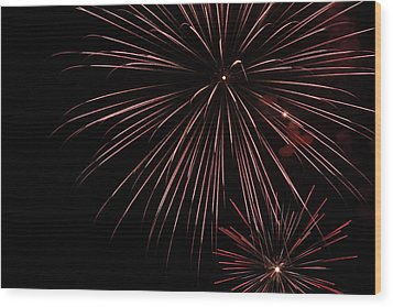 Fireworks Wood Print by Chuck Bailey