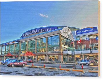 First Niagara Center Wood Print by Michael Frank Jr