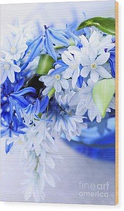 First Spring Flowers Wood Print by Elena Elisseeva