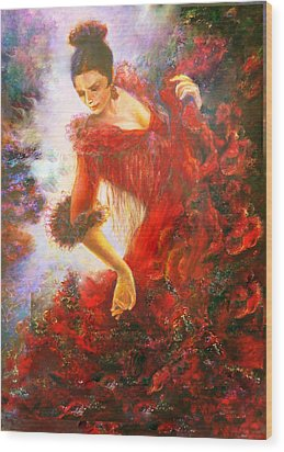 Flamenco Dancer Wood Print
