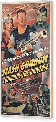 Flash Gordon Conquers The Universe Wood Print by Everett