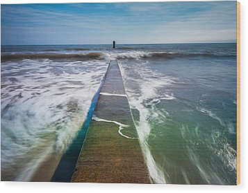 Wood Print featuring the photograph Folly Beach by RC Pics
