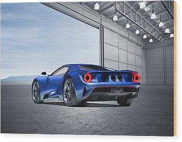 Wood Print featuring the digital art Ford Gt by Peter Chilelli