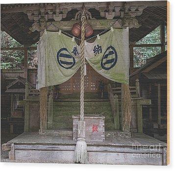 Forrest Shrine, Japan Wood Print