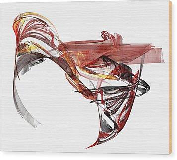 Fractal Wood Print by Andrea Barbieri
