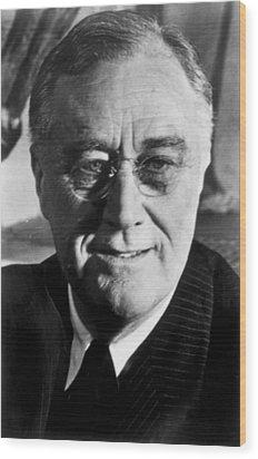 Franklin D. Roosevelt 1882-1945, U.s Wood Print by Everett