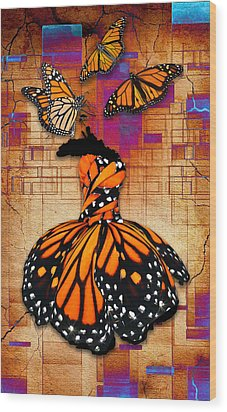 Wood Print featuring the mixed media Freedom To Be by Marvin Blaine