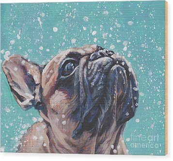 Wood Print featuring the painting French Bulldog by Lee Ann Shepard