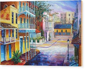 French Quarter Sunrise Wood Print by Diane Millsap