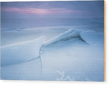 Wood Print featuring the photograph Frozen by Davorin Mance