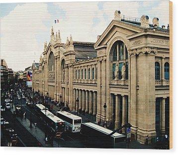 Gare Du Nord Wood Print by Diana Moya
