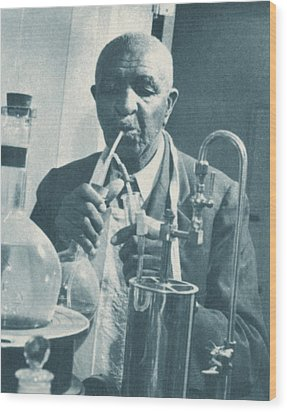 George W. Carver, African-american Wood Print by Science Source