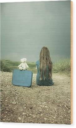 Girl In The Dunes Wood Print by Joana Kruse