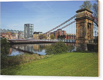 Wood Print featuring the photograph Glasgow by Jeremy Lavender Photography