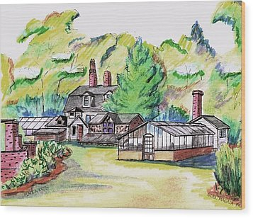 Glen Magna Farms Green House Wood Print by Paul Meinerth