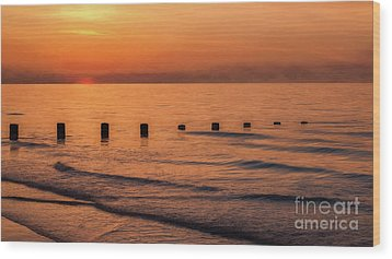 Wood Print featuring the photograph Golden Sunset by Adrian Evans
