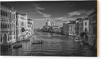 Wood Print featuring the photograph Gondola On The Grand Canal by Andrew Soundarajan