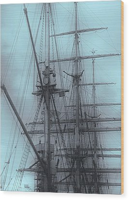 Wood Print featuring the photograph Gorch Fock ... by Juergen Weiss