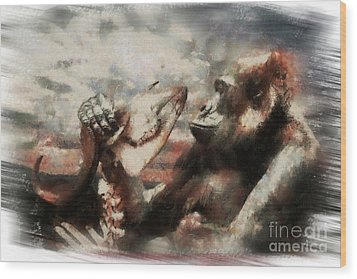 Wood Print featuring the photograph Gorilla  by Christine Sponchia