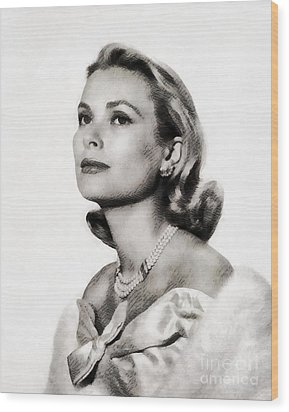 Grace Kelly, Vintage Hollywood Actress Wood Print by John Springfield