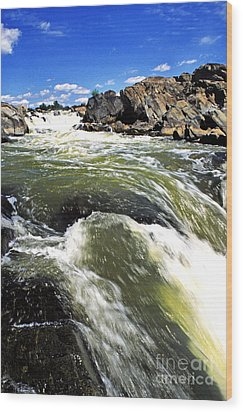 Great Falls Of The Potomac River Wood Print by Thomas R Fletcher
