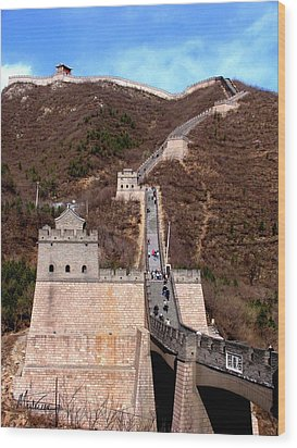 Wood Print featuring the photograph Great Wall  by Marti Green