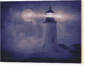 Guiding Lights Wood Print