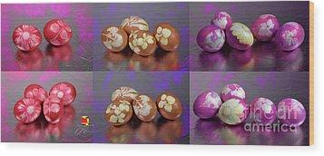 Happy Easter Wood Print by Afrodita Ellerman