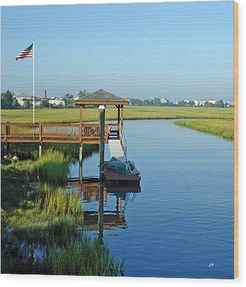 Wood Print featuring the photograph High Tide West Salisbury St Bridge by Phil Mancuso