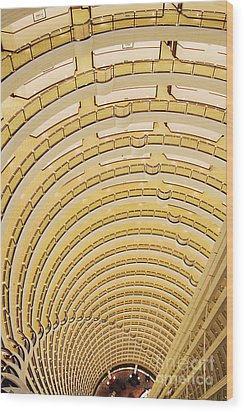 Hotel Atrium In The Jin Mao Tower Wood Print by Jeremy Woodhouse