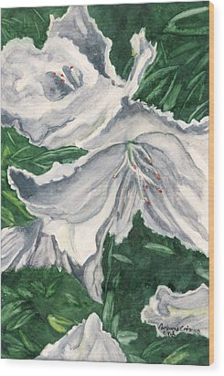 Wood Print featuring the painting Impression Of Azaleas  by Antonia Citrino