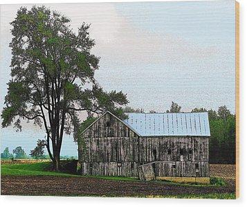 Indiana Barn Wood Print by Joyce Kimble Smith