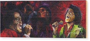 Jazz James Brown Wood Print by Yuriy  Shevchuk