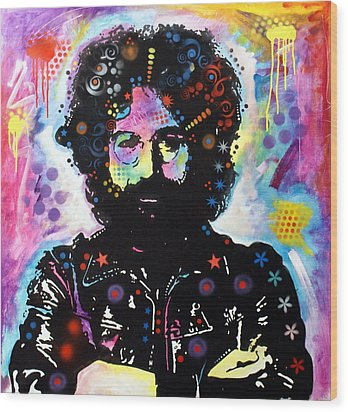 Wood Print featuring the painting Jerry Garcia by Dean Russo
