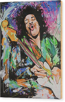Jimi Hendrix Wood Print by Richard Day