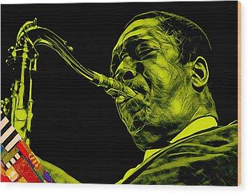 John Coltrane Collection Wood Print