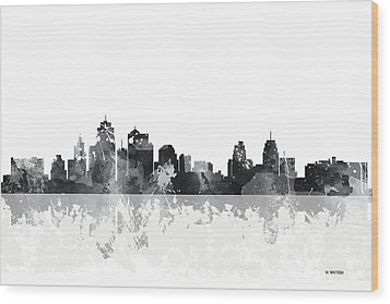 Kansas City Missouri Skyline Wood Print by Marlene Watson