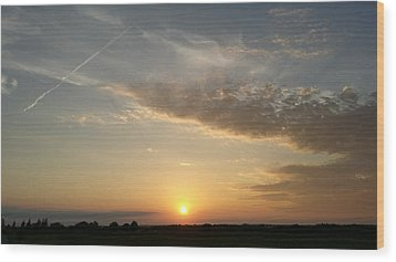 Kansas Sunset Wood Print by Dustin Soph