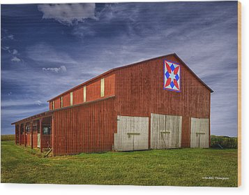 Kentucky Quilt Barn Wood Print by Wendell Thompson