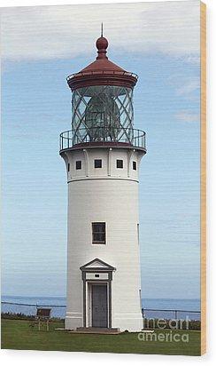 Kilauea Lighthouse On Kauai Wood Print by Catherine Sherman