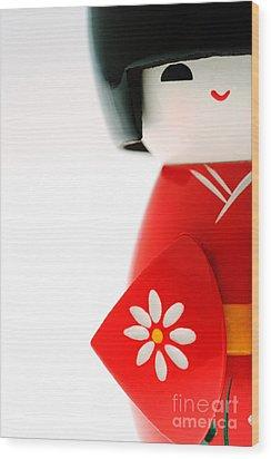 Kokeshi Doll Wood Print by Larry Dale Gordon - Printscapes