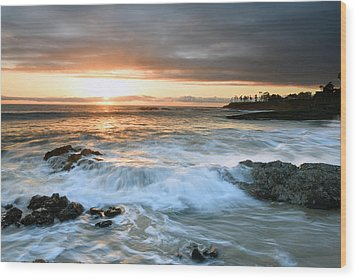 Wood Print featuring the photograph Laguna Beach Sunset by Dung Ma