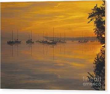Lake Massabesic - Auburn New Hampshire Usa Wood Print by Erin Paul Donovan