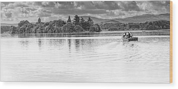 Lake Of Menteith Wood Print by Jeremy Lavender Photography