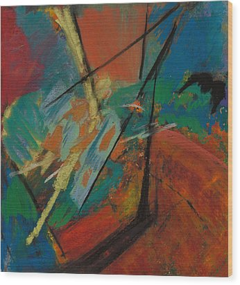 Landing Sight Wood Print by Ethel Vrana