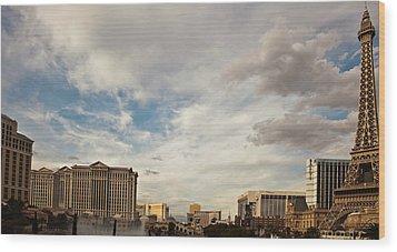 Las Vegas Wood Print by Patrick  Flynn