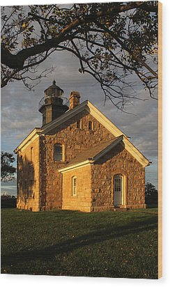 Lighthouse Old Field Point New York Wood Print
