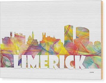 Limerick Ireland Skyline Wood Print by Marlene Watson
